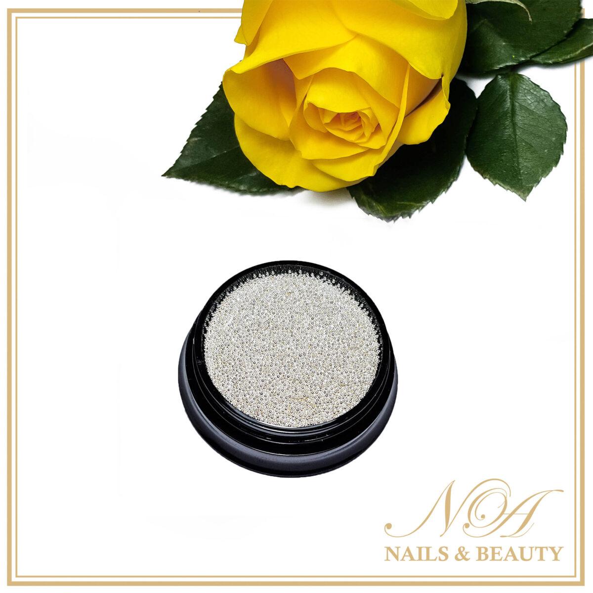 Caviar Unghii Argintiu 0.6 mm