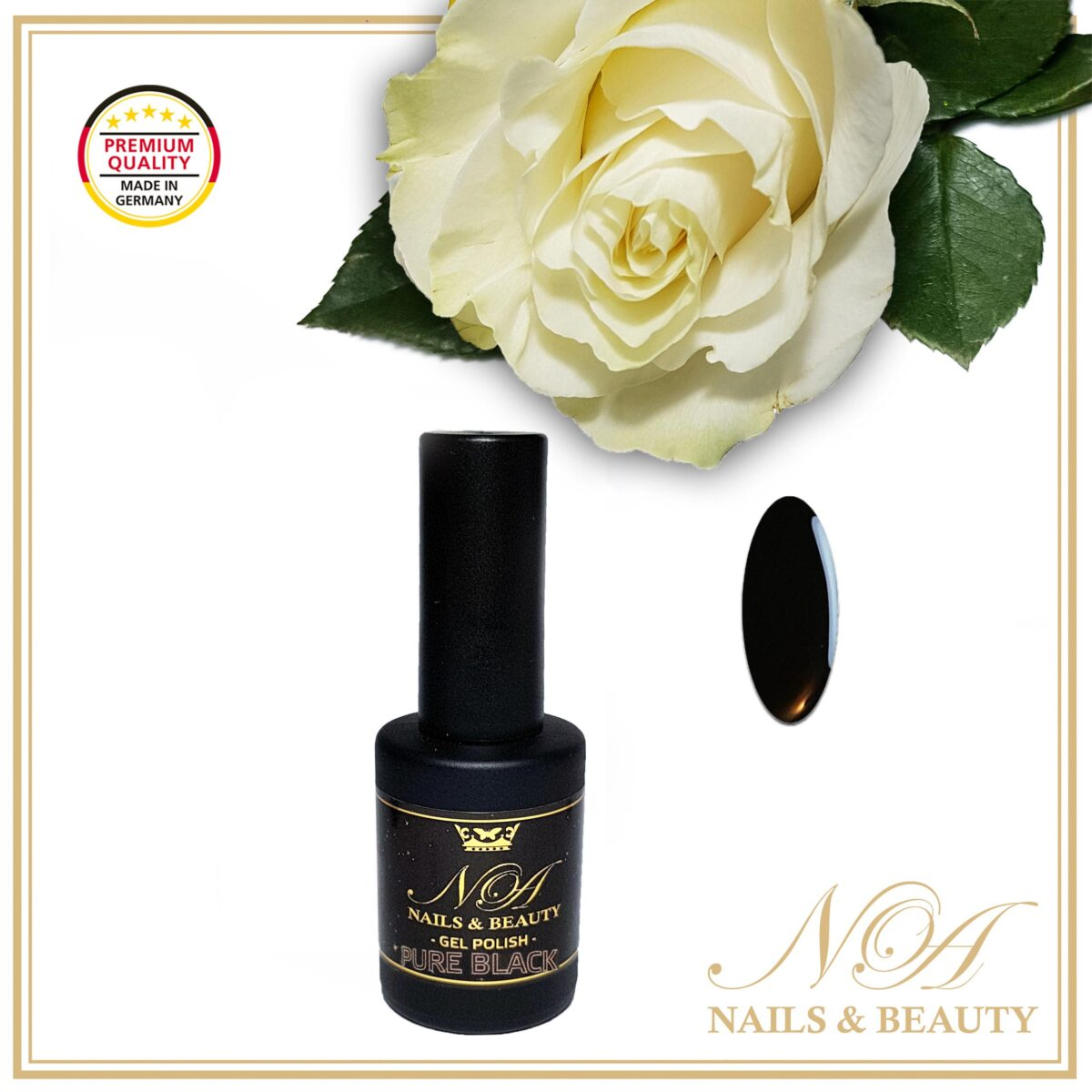 Oja Semipermanenta Pure Black 10 ML
