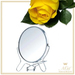 "Oglinda Cosmetica Rotativa 360 grade Metal 6"""