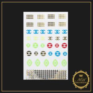 Abtibilduri Stickere Unghii Chanel