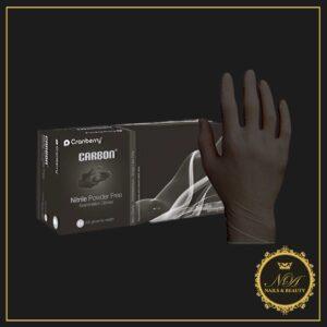 Manusi Negre Carbon black Cranberry 100 buc – Marimea M
