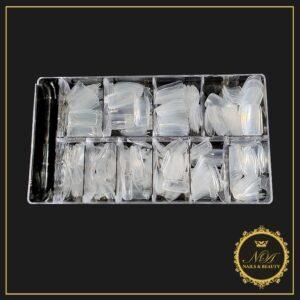 Cutie Tipsuri Transparente Clear 500 Bucati